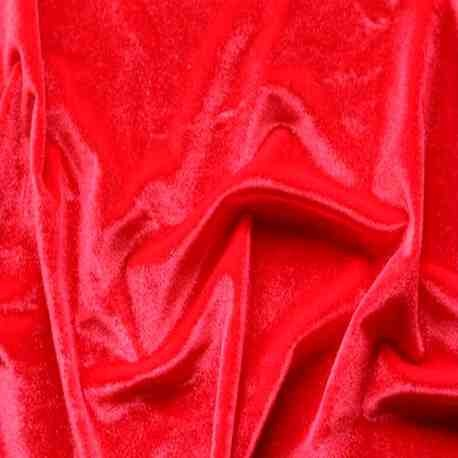 Velour Lisse Rouge