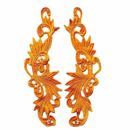 motif lace by pair tessy yellow amber applique guipure mariage - Gupire Mariage