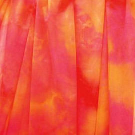 Voile Lycra Rouge Rose / Orange