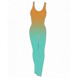 Shaded Lycra Combination - Green Water