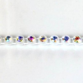 Rhinestone Bands Transparent /Crystal AB