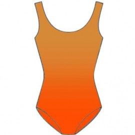 Shaded Leotard Lycra - Orange