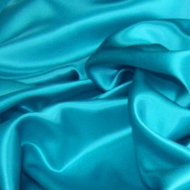 Stretch Satin Paon Blue