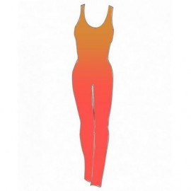 Shaded Lycra Combination - Coral