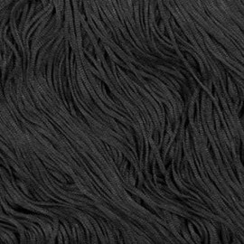 Black - Fringe 30 cm Stretch